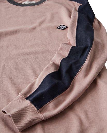 4 Wave Washed - Jersey de Cuello Redondo para Hombre Rosa Q1FL04BIF9 Billabong
