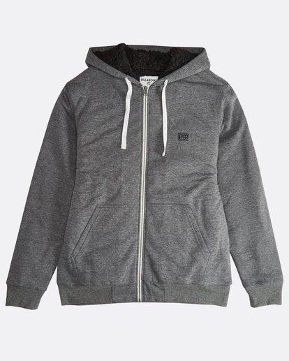 6 All Day - Sherpa Pullover Jacke für Männer Schwarz Q1FL15BIF9 Billabong