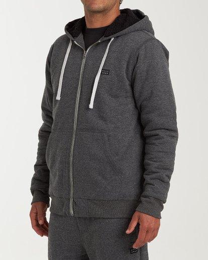 2 All Day - Sherpa Pullover Jacke für Männer Schwarz Q1FL15BIF9 Billabong