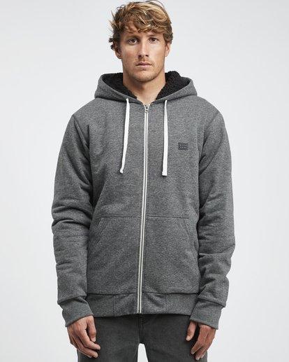 11 All Day - Sherpa Pullover Jacke für Männer Schwarz Q1FL15BIF9 Billabong