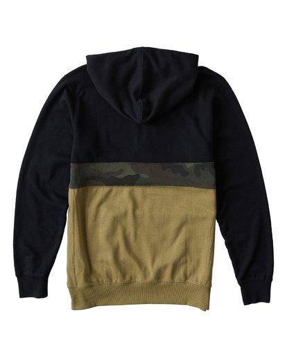 5 Wave Washed - Pullover mit halbem Reißverschluss für Männer Schwarz Q1FL18BIF9 Billabong
