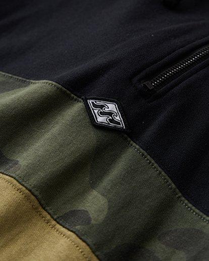 6 Wave Washed - Pullover mit halbem Reißverschluss für Männer Schwarz Q1FL18BIF9 Billabong