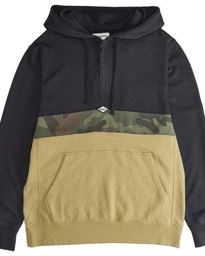 2 Wave Washed - Pullover mit halbem Reißverschluss für Männer Schwarz Q1FL18BIF9 Billabong
