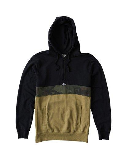 3 Wave Washed - Pullover mit halbem Reißverschluss für Männer Schwarz Q1FL18BIF9 Billabong