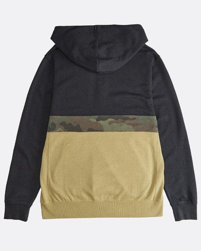 1 Wave Washed - Pullover mit halbem Reißverschluss für Männer Schwarz Q1FL18BIF9 Billabong