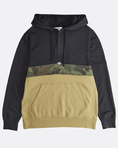 0 Wave Washed - Pullover mit halbem Reißverschluss für Männer Schwarz Q1FL18BIF9 Billabong