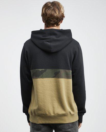 10 Wave Washed - Pullover mit halbem Reißverschluss für Männer Schwarz Q1FL18BIF9 Billabong