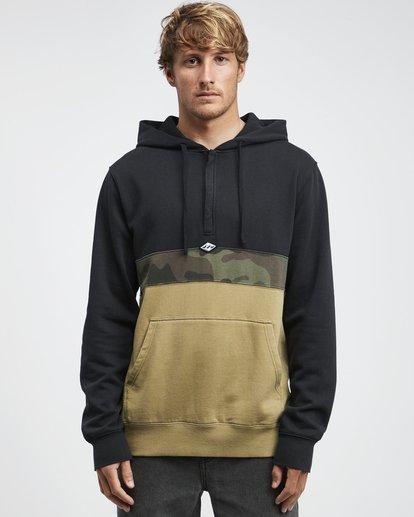 9 Wave Washed - Pullover mit halbem Reißverschluss für Männer Schwarz Q1FL18BIF9 Billabong