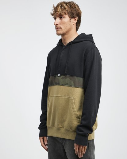 11 Wave Washed - Pullover mit halbem Reißverschluss für Männer Schwarz Q1FL18BIF9 Billabong