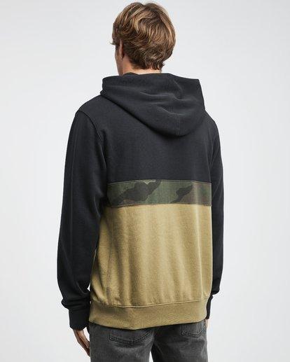 12 Wave Washed - Pullover mit halbem Reißverschluss für Männer Schwarz Q1FL18BIF9 Billabong