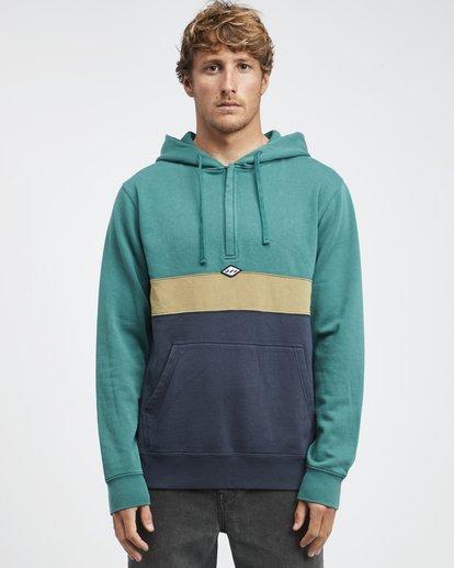 6 Wave Washed - Pullover mit halbem Reißverschluss für Männer Grün Q1FL18BIF9 Billabong