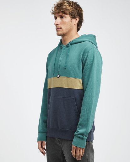 8 Wave Washed - Pullover mit halbem Reißverschluss für Männer Grün Q1FL18BIF9 Billabong