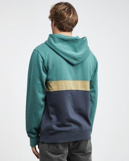 9 Wave Washed - Pullover mit halbem Reißverschluss für Männer Grün Q1FL18BIF9 Billabong