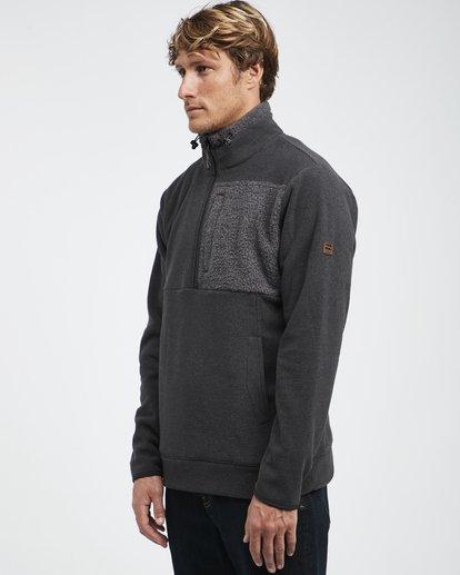 9 Boundary Mock - Pullover mit halbem Reißverschluss für Männer Schwarz Q1FL24BIF9 Billabong