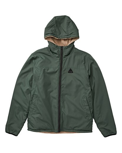 2 Switchback - Reversible Jacket for Men Green Q1JK12BIF9 Billabong