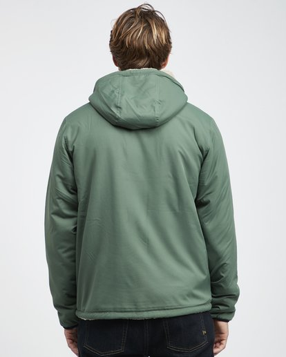6 Switchback - Reversible Jacket for Men Green Q1JK12BIF9 Billabong