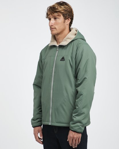 7 Switchback - Reversible Jacket for Men Green Q1JK12BIF9 Billabong