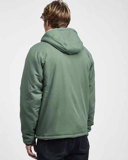 8 Switchback - Reversible Jacket for Men Green Q1JK12BIF9 Billabong