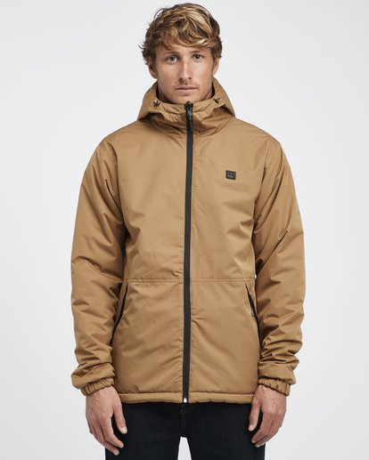 6 Transport Revo - 10K Jacket for Men Beige Q1JK14BIF9 Billabong