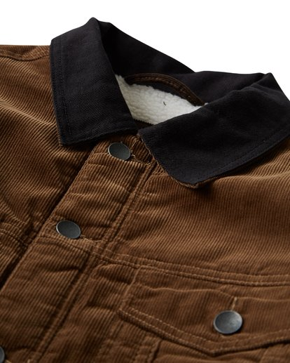 7 Barlow - Trucker Jacket for Men Brown Q1JK30BIF9 Billabong