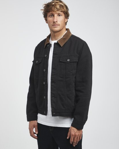 2 Barlow - Trucker Jacket for Men Black Q1JK30BIF9 Billabong