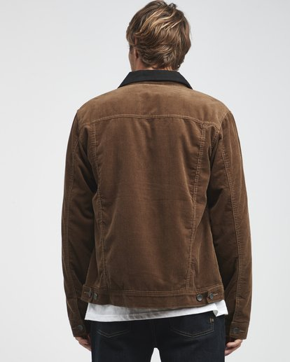 3 Barlow - Trucker Jacke für Männer Braun Q1JK30BIF9 Billabong