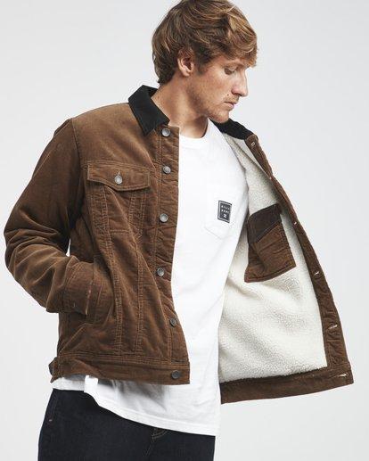 4 Barlow - Trucker Jacket for Men Brown Q1JK30BIF9 Billabong