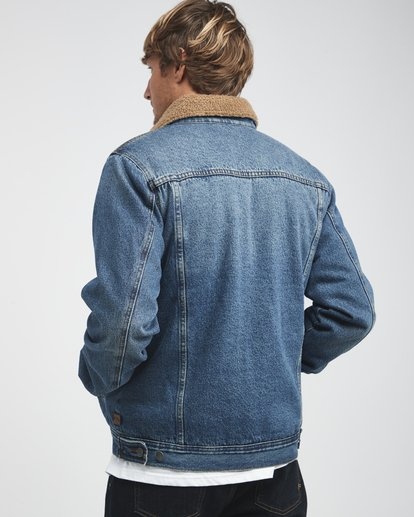 1 Barlow - Trucker Jacket for Men Blue Q1JK30BIF9 Billabong