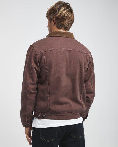 3 Barlow - Trucker Jacket for Men Brown Q1JK30BIF9 Billabong