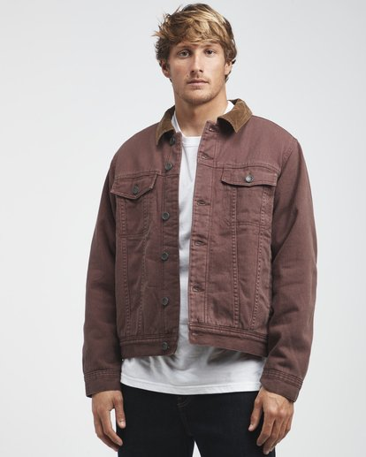2 Barlow - Trucker Jacket for Men Brown Q1JK30BIF9 Billabong