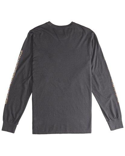 3 Heritage - Camiseta de Manga Larga para Hombre Negro Q1LS02BIF9 Billabong