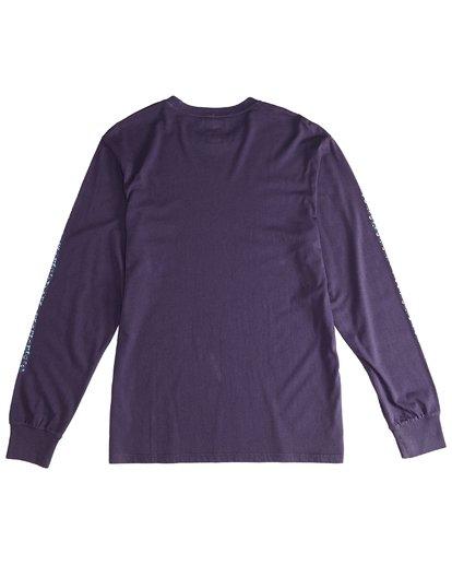 3 Heritage - Camiseta de Manga Larga para Hombre Violeta Q1LS02BIF9 Billabong