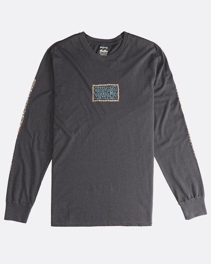 0 Heritage - Camiseta de Manga Larga para Hombre Negro Q1LS02BIF9 Billabong