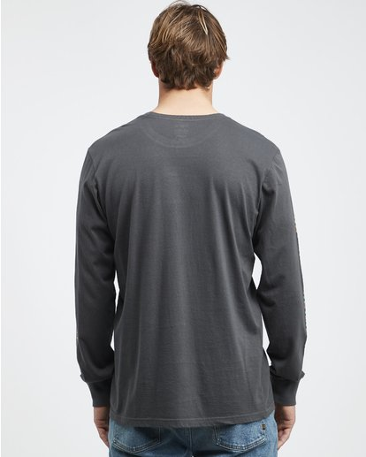 5 Heritage - Camiseta de Manga Larga para Hombre Negro Q1LS02BIF9 Billabong