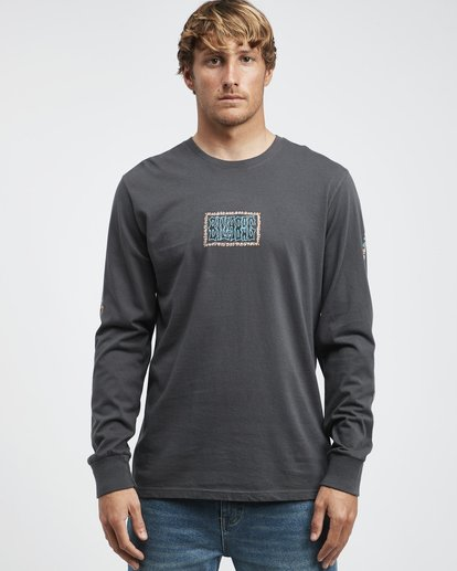4 Heritage - Camiseta de Manga Larga para Hombre Negro Q1LS02BIF9 Billabong