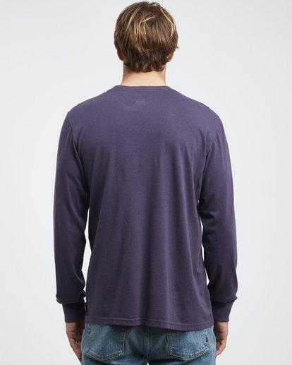 5 Heritage - Long Sleeves Tee for Men Purple Q1LS02BIF9 Billabong