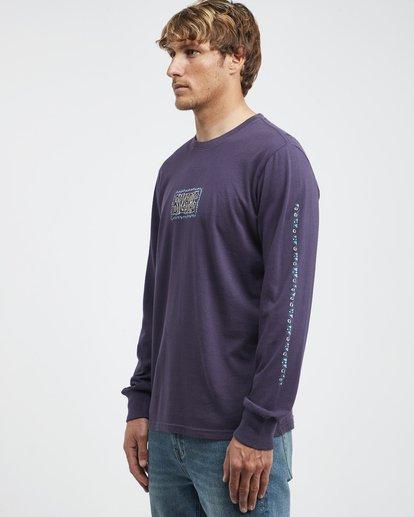 6 Heritage - Camiseta de Manga Larga para Hombre Violeta Q1LS02BIF9 Billabong