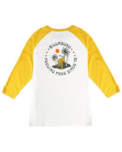 3 Bengal - Langärmeliges T-Shirt für Männer Gelb Q1LS04BIF9 Billabong