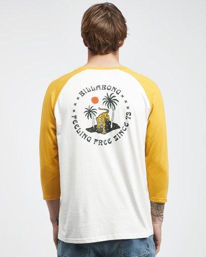 5 Bengal - Langärmeliges T-Shirt für Männer Gelb Q1LS04BIF9 Billabong