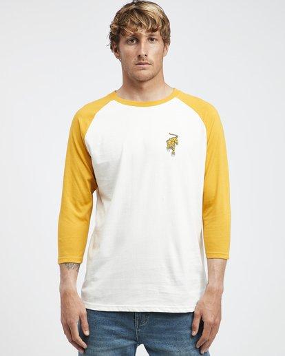 4 Bengal - Langärmeliges T-Shirt für Männer Gelb Q1LS04BIF9 Billabong
