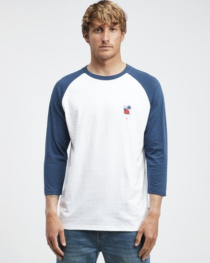 4 Bengal - Langärmeliges T-Shirt für Männer Blau Q1LS04BIF9 Billabong