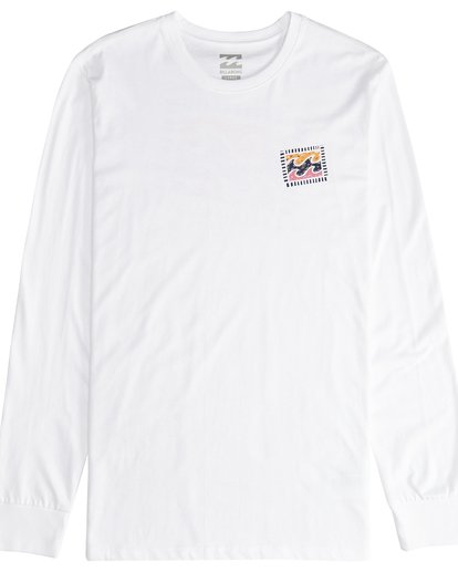 2 Iconic - Langärmeliges T-Shirt für Männer Weiss Q1LS08BIF9 Billabong