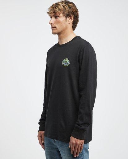6 Iconic - Langärmeliges T-Shirt für Männer Schwarz Q1LS08BIF9 Billabong