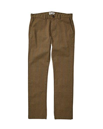 3 Carter Yarndye - Chino Hose für Männer Grün Q1PT04BIF9 Billabong