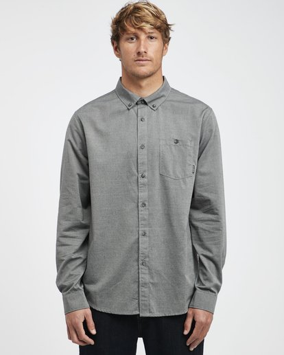 3 All Day - Camisa de Manga Larga para Hombre Gris Q1SH01BIF9 Billabong
