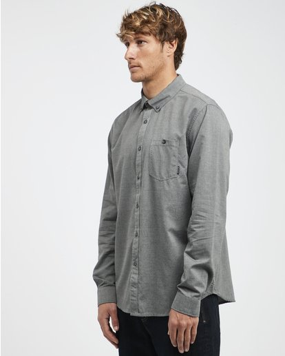 5 All Day - Camisa de Manga Larga para Hombre Gris Q1SH01BIF9 Billabong