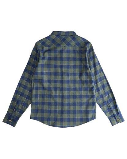 3 All Day - Camisa de Franela de Manga Larga para Hombre Verde Q1SH03BIF9 Billabong