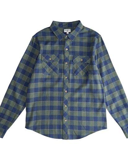 2 All Day - Camisa de Franela de Manga Larga para Hombre Verde Q1SH03BIF9 Billabong