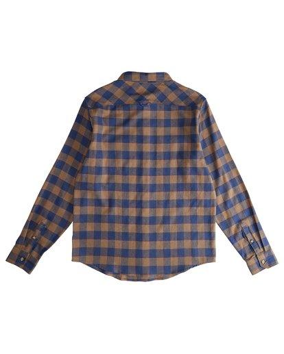 3 All Day - Langärmeliges Flanell-Hemd für Männer Braun Q1SH03BIF9 Billabong