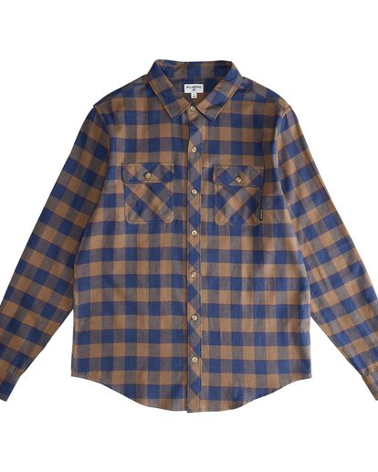 2 All Day - Langärmeliges Flanell-Hemd für Männer Braun Q1SH03BIF9 Billabong